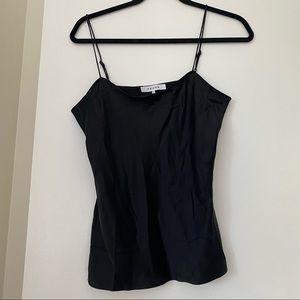 FRAME black silk camisole
